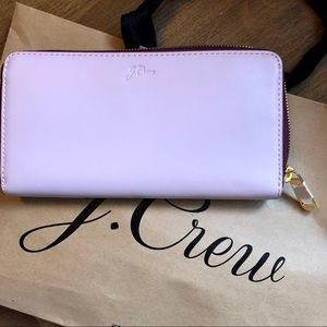 Lilac Italian leather wallet